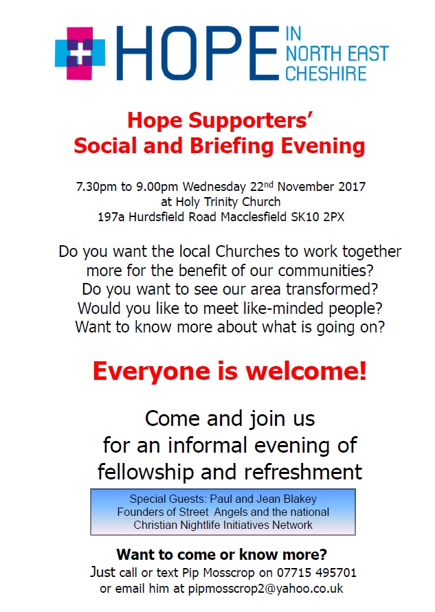 HOPE Supporters – Briefing and Social Evening