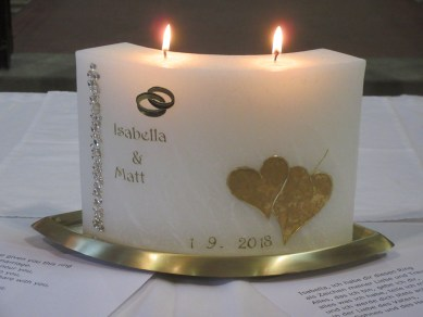 Traditional Austrian Wedding candle