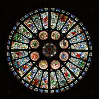 The glass dome at the Toronto Hockey Hall of Fame