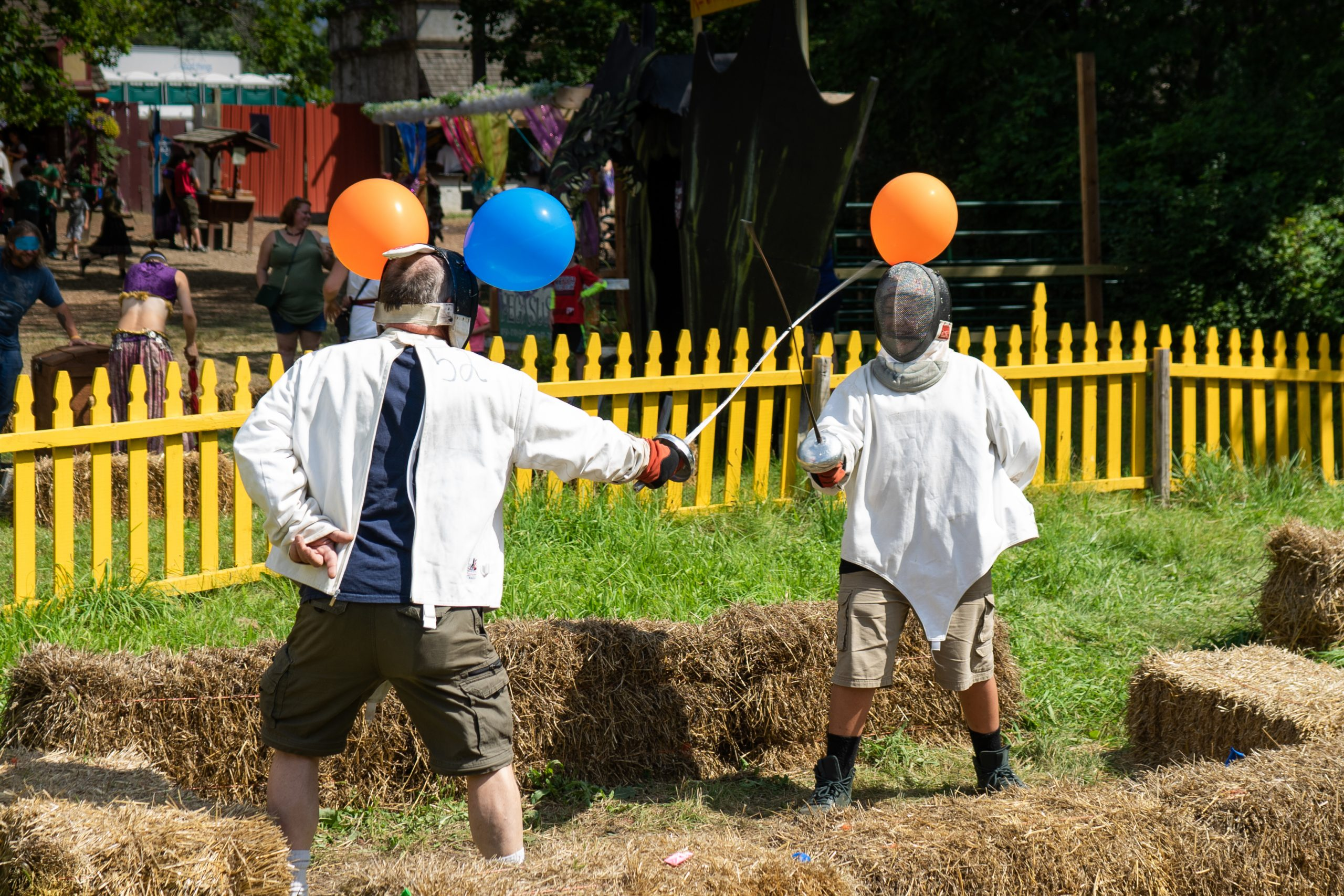Two fencers at the Holly Renaissance Festival