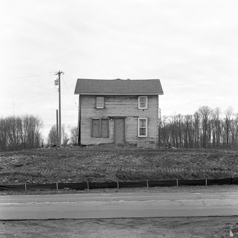 Abandoned house on 12 Mile Rd on Ilford HP5+