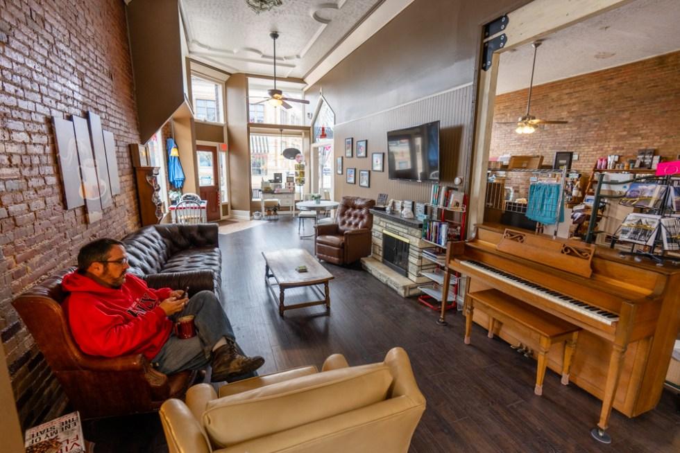 Interior of Battle Alley Coffee