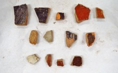 The pottery sherds found in SU 1212