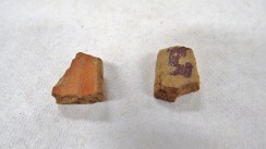 Pottery sherds from the first bag of SU 1213
