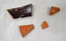 Alternate view of pottery sherds from the fsecond bag of SU 1213