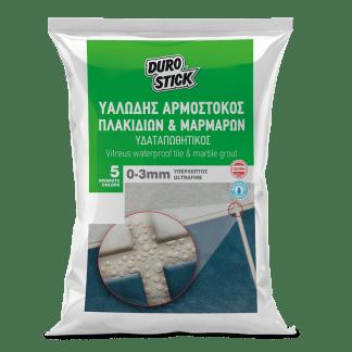 Durostick Αρμόστοκος πλακιδίων και μαρμάρων – Υπέρλεπτος 0-3mm υαλώδης 5kg