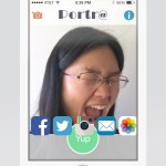Share the animated-selfie in a variety of ways.