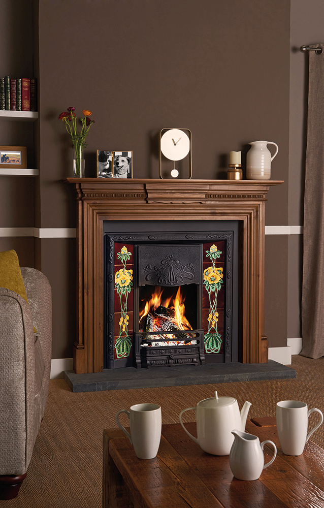 Tiled Fireplace Pictures Art Nouveau Tiled Fireplaces - Stovax Traditional Fireplaces
