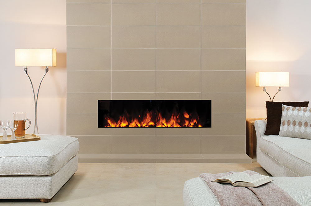 Fireplace Tile Designs Studio Electric Inset 80, 105 & 150 Fires - Gazco Fires