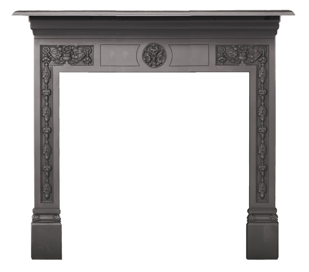 Combination Wood And Gas Fireplace Insert Stovax Victorian Cast Iron Mantel - Stovax Mantels