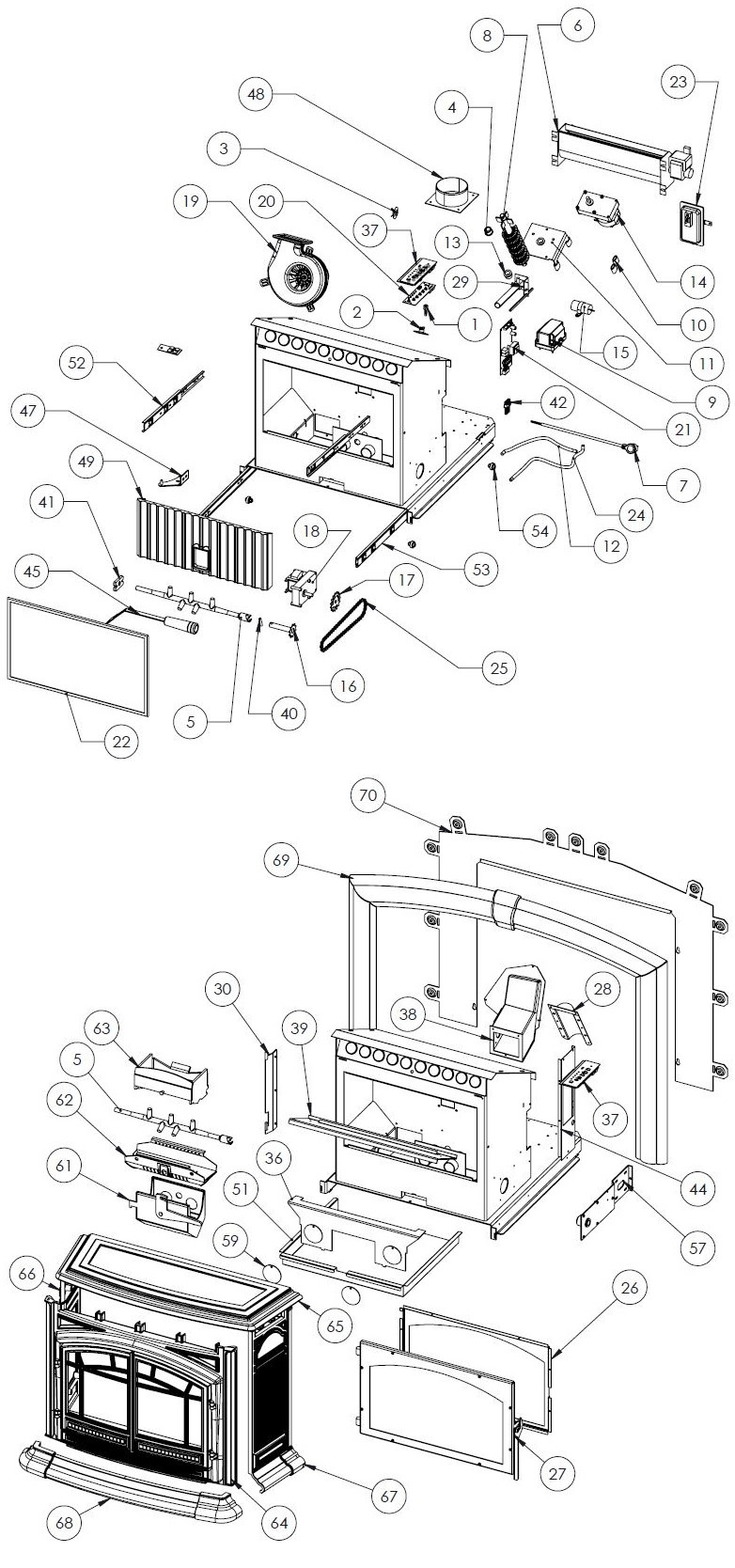 hight resolution of m55 fpi insert parts free shipping on orders over 49 rh stove parts unlimited com wiring diagram symbols basic electrical wiring diagrams