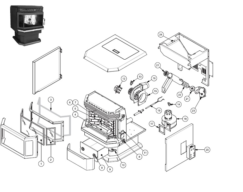 Breckwell Pellet Stove Parts Diagram : 36 Wiring Diagram