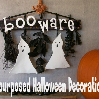 Booware!!! Repurposed Halloween Decoration