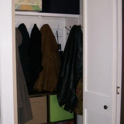 Turn Your Closet into a Mini Mud Room