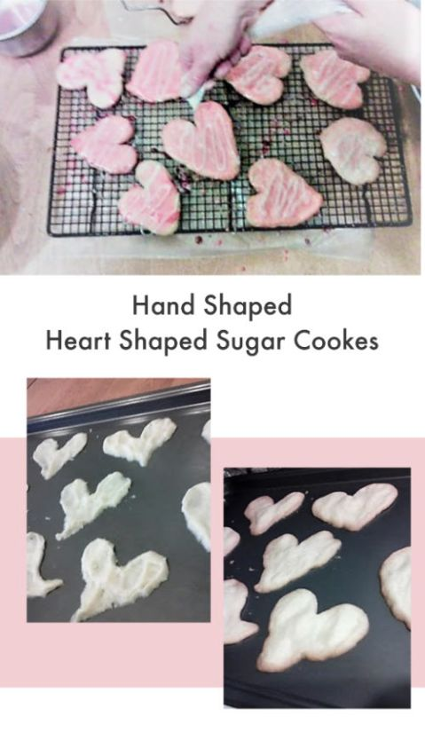 Hand Shaped Heart Shaped Cookies