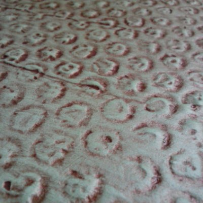 This Might Look Like Snake Skin… Plaster and Bubble Wrap Texture