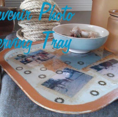 Dune Buggy Memories: Souvenir Photo Serving Tray with Envirotex Lite