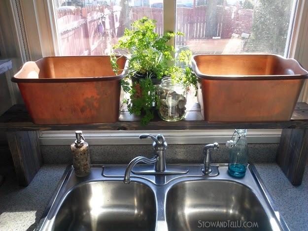 Pallet Wood Over-the-Sink Window Shelf (Kitchen Update 5) | Stow&TellU