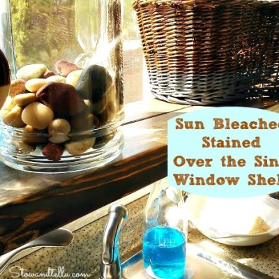 Sun Bleached and Weather Stained Over-the-Sink Window Shelf