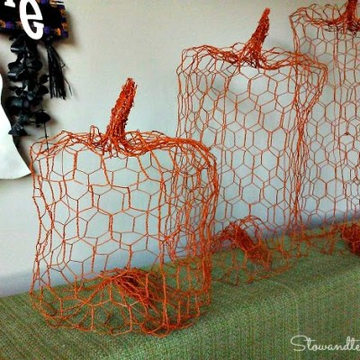 How to Make a Pumpkin out of Chicken Wire