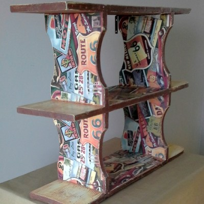 Route 66 Shelf Mini Makeover