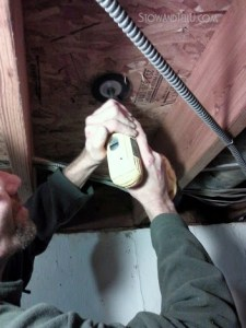 use-rotary-tool-or-Dremmel-to-trim-down-exposed-ceiling-nails