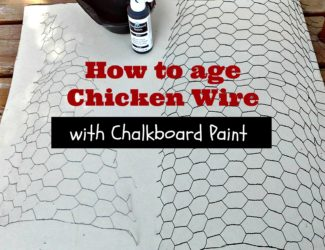 how-to-age-chicken-wire-with-challkboard-paint
