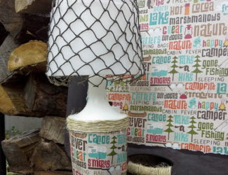 decoupaged-camping-themed-camping-lamp