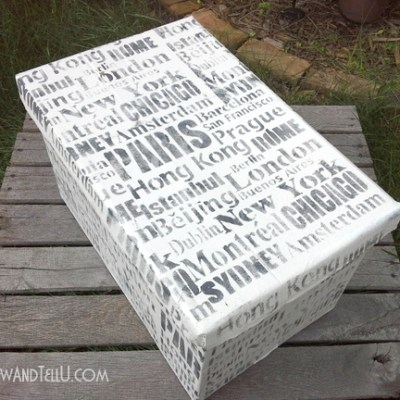 LOL Stenciled Storage Box