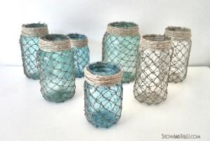 beachy-coastal-netting-wrapped-jars