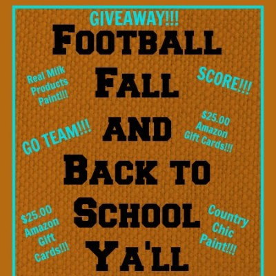Let's Get the Fall Rolling Paint and Gift Card Giveaway