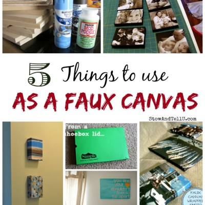 5 Things to Use as a Faux Canvas