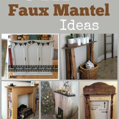 5 DIY Faux Mantel Ideas