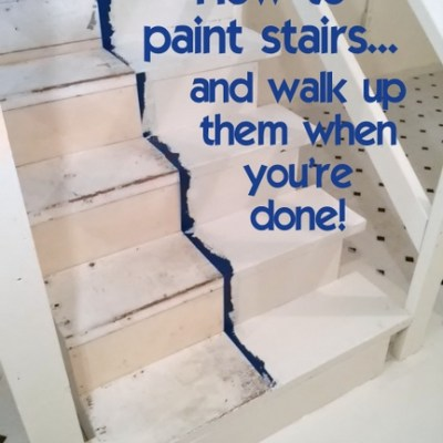 How to Paint Stairs and Walk Up Them When Your Done!