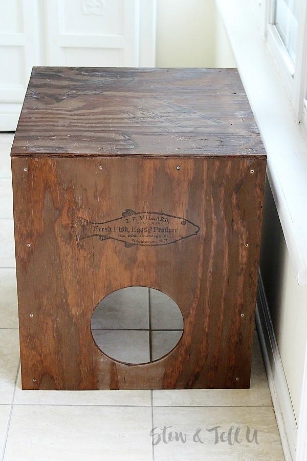 DIY Rustic Wood Cat Cubby House | stowandtellu