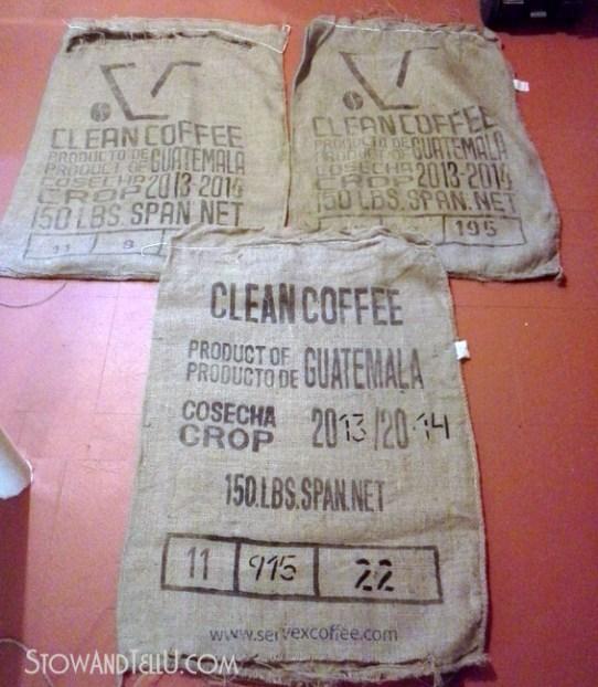 how-to-wash-burlap-coffee-sacks-http://www.stowandtellu.com