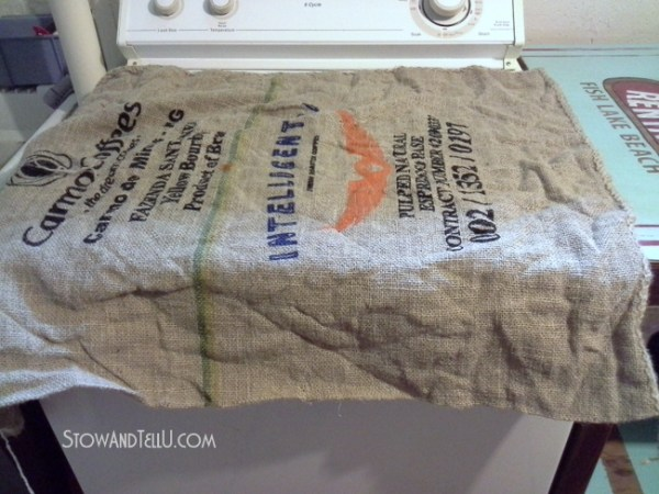 how-to-wash-dry-get-wrinkles-out-of-coffee-bean-sacks-http://www.stowandtellu.com