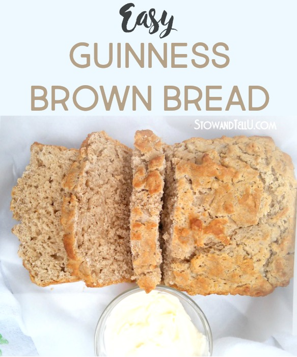 How to make Guinness Brown Bread | easy beer bread recipe | stownadtellu.com