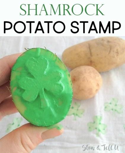 DIY Shamrock potato stamp