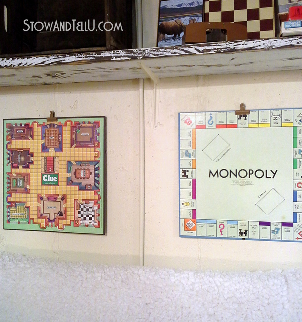 how-to-hang-board-game-art-gameroom-decor-ideas-basement-http://www.stowandtellu.com