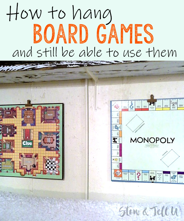 How to Easily Hang Board Games as Artwork | Simple Wall Mounted Game Board Art | stowandtellu.com
