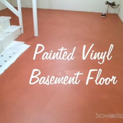 No Slip, No Kidding! Painted Vinyl Basement Floor