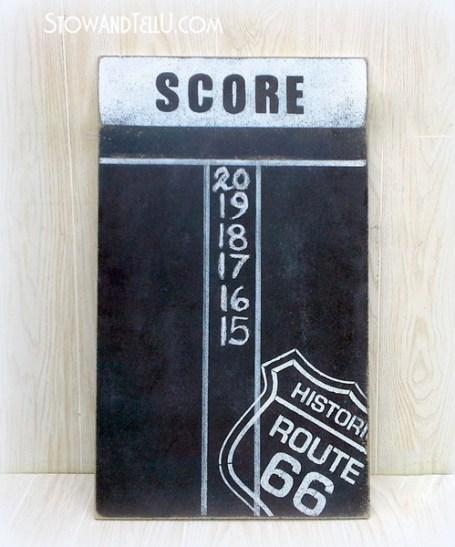 route-66-chalkboard-diy-dartboard-scoreboard-http://stowandtellu.com