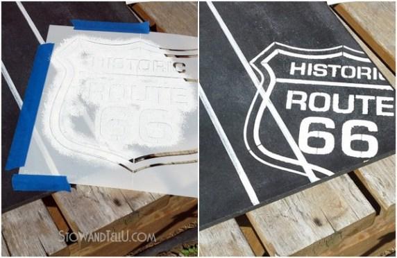 scoreboard-stencil Rt 66