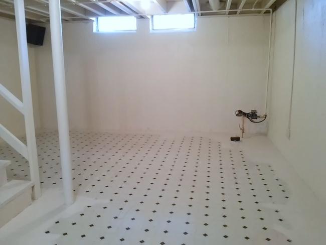 Vinyl Basement Floor Painting