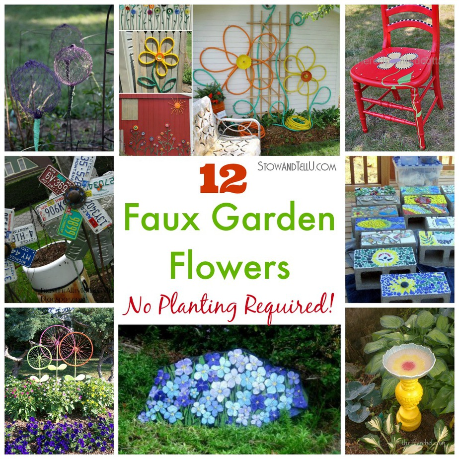 12 Faux Garden Flowers. No Planting Required!   Stow&TellU