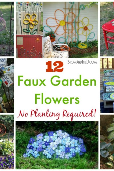 12 Faux Garden Flowers. No Planting Required!