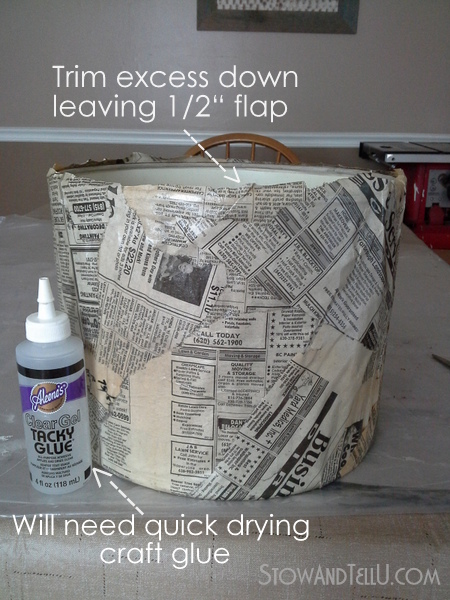 decoupage-newspaper-lampshade