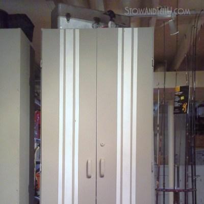 Oops! Grain Sack Painted Storage Cabinet