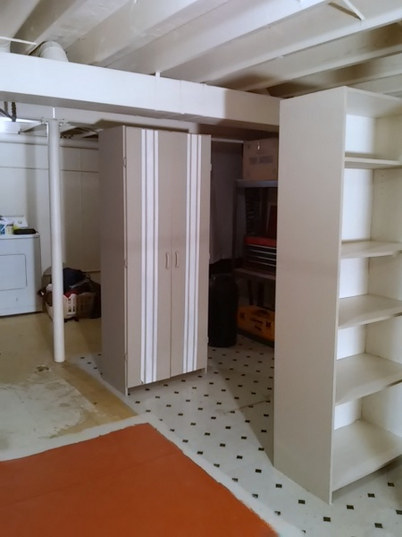 Painted Sauder Cabinets
